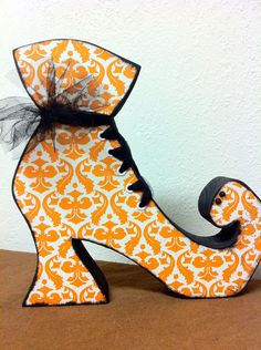 Halloween--Witch Boot. $25.00, via Etsy.