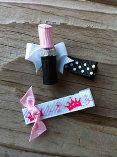 Dress Up Time Lipstick Ribbon Sculpture Set in Pink by patyg13, $4.50