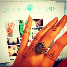 Ideas for finger tattoos watch this space for In Your Dreams temporary tattoos.... #tattoo #fingertattoo #inyourdreamstattoo #bohemian #indi...