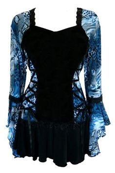 Awesome Dare To Wear Victorian Gothic Womens Plus Size Bolero Corset Top Pullover Shirt, Shirt Bluse, Fashion Mode, Womens Fashion, Emo Fashion, Fashion Clothes, Fashion Bags, Beautiful Outfits, Cool Outfits