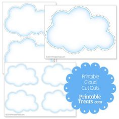 Printable Cloud Cut Outs