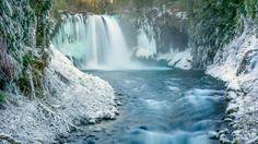 amazing winter waterfall wallpaper hd download