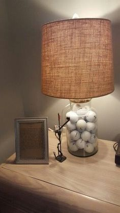 Cute Golf Lamp Vignette! Find more golf ideas, quotes, tips, and lessons at #lorisgolfshoppe