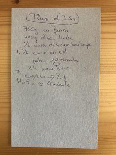 Recettes de famille - Cahier de cuisine familiale - Pain maison - Pain d'Isa #cuisine #recettes #boulangerie #pain #painmaison Family Kitchen, Bakery Business, Recipes