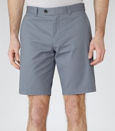 Mens Airforce Blue Tailored Chino Shorts - Reiss Wicker