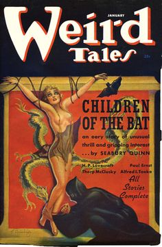 Margaret Brundage cover art - she forever changed the look of fantasy & horror mags