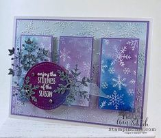 Sparkly Snowflake Card for The Paper Players - The Stampin' Schach