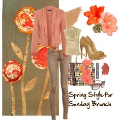 Spring Style for Sunday Brunch, created by victoria-lochhead