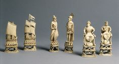 Chess set, late 18th century  Russian (Kholmogory)  Walrus ivory