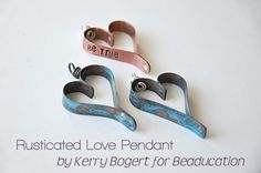 Beaducation: The Blog: {FREE PROJECT} Guest Post from Kerry Bogert : Riveted Love Pendant