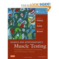 Daniels and Worthingham's Muscle Testing: Techniques of Manual Examination and Performance Testing, (Daniel's. Testing Techniques, Nursing Books, Medicine Book, Manual, Muscle, Student, Normal People, Pta