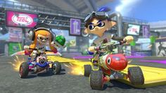 Watch new characters Inkling Boy and King Boo go head-to-head on the new Battle Mode stage Urchin Underpass. Mario Kart 8 Deluxe Official Reveal Trailer http. Mario Kart 8, Mario Bros, Nintendo Switch, Wii U, Mode Stage, Trailers, King Boo, Video Game Collection, Rpg