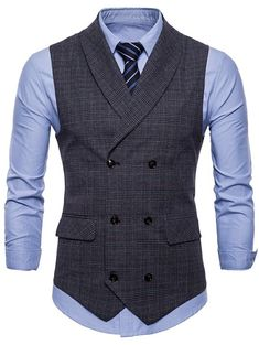 Fashion Pioneer with more than 200000 different style of clothes lower than average market price, offering Great customer service and shopping experience. Waistcoat Men Casual, Men's Waistcoat, Mens Suit Vest, Waistcoat Men Wedding, Double Breasted Waistcoat, Western Outfits, Outfit Hombre Casual, Chaleco Casual, Gilet Costume