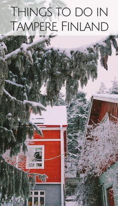 Top things to do in Tampere on a winter break in Finland. Tampere is one of the best places to visit in Finland, See the colorful Pispala, Pyynikki observation tower, try local donuts, and sauna like a true Finn! Also, read on for tips on where to eat in Tampere and where to stay in Tampere. #Finland #Tampere