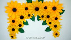 How To Make Sunflower, Sunflower Party, Cool Paper Crafts, Tissue Paper Flowers, Handmade Flowers, Diy Flowers, Masha Et Mishka, Decoration Creche, Flamingo Party