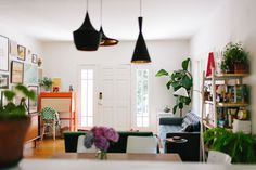 The Lighting Fixtures Were A Pre-Move In Update That Diana Made In Her Oakland Farmhouse On Design*Sponge