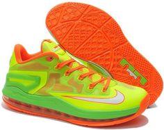 3d71667d6157 Lebron 11 Low Green Orange White Lebron James Basketball
