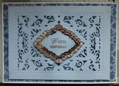 Here is another Card made with one of the Sue Wilson Dies. I hope you like it. I first cut some hunkydory background paper to approximately the same size as the die.* I put the hunkydory background...