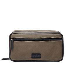 Fossil Double Zip Olive Shave Kit Olive -- You can find more details by  visiting the image link. (Note Amazon affiliate link)  LuggageTravelGear 30b7fa4376c34