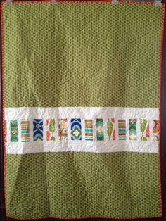 Coin Quilt Back | Squares and Triangles