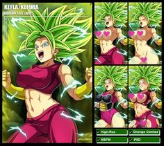 Kefla/Kefura (Dragon Ball Super) PACK by Sano-BR