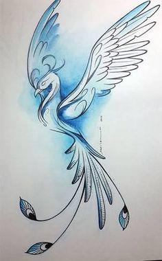 Phenix - Phoenix Tattoo - Amazing Garden Ideas - DIY Home Accents - Hairstyle For Long - DIY Jewelry Tutorial Bird Drawings, Pencil Art Drawings, Art Drawings Sketches, Tattoo Sketches, Animal Drawings, Tattoo Drawings, Body Art Tattoos, Sleeve Tattoos, Tatoos