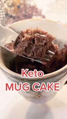 Keto Desert Recipes, Dessert Recipes, Desserts, Low Carb Keto, Low Carb Recipes, Keto Mug Cake, Low Fat Diets, Good Foods To Eat, Ketogenic Diet