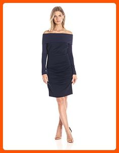 Nicole Miller Women's Cali Ponte Dress, Navy/Navy, Petite - All about women (*Amazon Partner-Link)