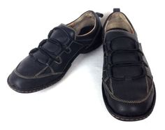 BORN-Shoes-LEATHER-Black-ATHLETIC-Slip-On-COMFORT-Casual-WALKING-Mens-11-5-M