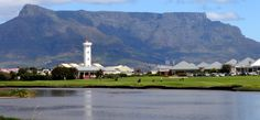 Here's a photo of the Diep River as it flows gently past the Milnerton Lighthouse and the Milnerton Golf Course (that's the 18th hole in picture).