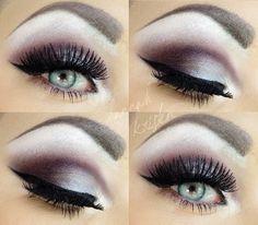 purpley, wintery look.