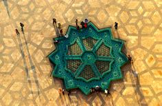 Fountain at Hassan II Mosque, Casablanca, Morocco.    Taken by Jacques Bravo.