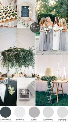 grey wedding colour schemes - Shades of grey wedding colour theme for Outdoor Summer Wedding | fabmood.com
