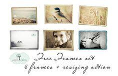Frames, Actions, Textures, Presets http://ilafrancephotography.com/blog/freebies/