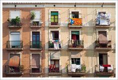El Raval - Barcelona Places Around The World, Around The Worlds, Barcelona, Spain, Multi Story Building, Europe, Doors, Balconies, Sevilla Spain