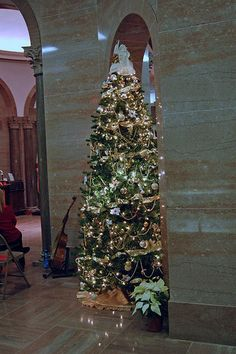 Gold and White Christmas Tree Theme  May have to add white to my gold/burgundy theme