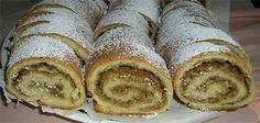 Walnut Cheese Strudel Make 2 rolled strudels 2 eggs cup butter or margarine, melted, room temperature 1 cup farmer's cheese (you . Croatian Recipes, Hungarian Recipes, Jewish Recipes, Nut Roll Recipe, Just Desserts, Dessert Recipes, Lunch Recipes, Croatian Cuisine, Strudel Recipes