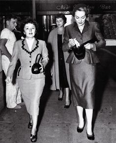 Edith Piaf and Marlene Dietrich. They met in New York during Edith's tour in 1947 and became close friends until her death.