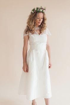 Heart reverse shrug bridal cover up wilderness bride