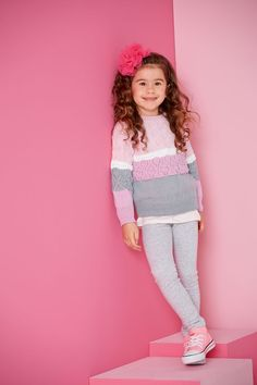 Lana Grossa PULLOVER Cool Wool - FILATI Kids & Teens No. 4 - Modell 34 | FILATI.cc WebShop