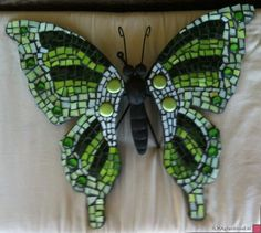 ideas for modern mosaic butterfly Butterfly Mosaic, Butterfly Wall Art, Green Butterfly, Mosaic Wall Art, Mosaic Glass, Mosaic Tiles, Mosaic Crafts, Mosaic Projects, Free Mosaic Patterns