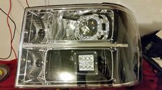 Just finished up a nice set of morimoto retrofitted GMC Sierra lights. They have an LED driving cube in the high beam with a smoked reflector on the side. See fastheadlights.com to get your set today.