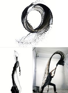 High speed water shooting by Shinichi Maruyama. Via www.designisus.com.