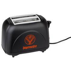 A toast to this toast. Give your breakfast an elegant touch with the Jägermeister deer head logo. Two-slice toasting appliance with 6 variable toast settings, illuminated power and stop switches.