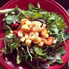 Wife-a-saurus Cooks: Buffalo Shrimp Salad