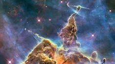 Essa foto foi liberada no aniversário de 20 anos do Hubble e mostra um cenário nunca antes estudado em detalhes. Chamada Montanha Mística, esse pilar é onde novas estrelas são formadas – muitos assim são vistos na Nebulosa de Carina.