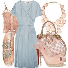 I love the combination of the soft blues and pinks. I would definitely design this on a dime. No Louboutins for this mommy. Not now anyway.