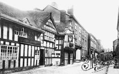 The Rose And Crown 1898 Cheshire England, Historical Photos, Old Photos, History, Street, Places, Travel, King, Crown