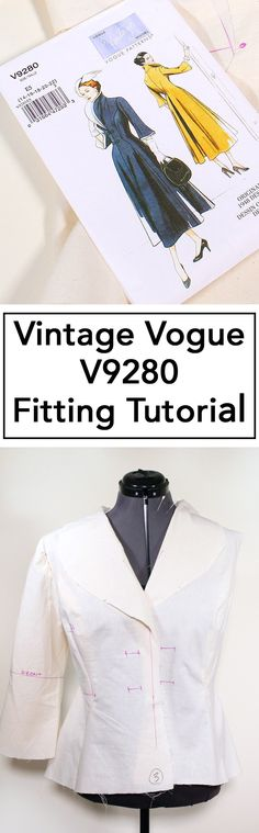 How to fit Vintage Vogue 9280 video tutorial, a retro dress from 1948 | Vintage on Tap
