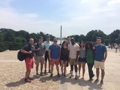 Eight cadets and one CGC student have been working and studying in DC for the summer!
